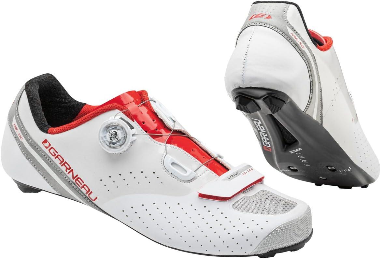 Garneau Carbon LS100 II Cycling Shoe Men's Cycling 45.5 EU White-Ginger