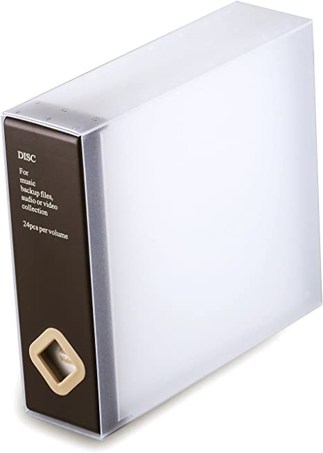 Caja de almacenamiento para CDs y DVDs de AhfuLife®, con colorido diseño, para ahorrar espacio marrón Brown(one): Amazon.es: Informática