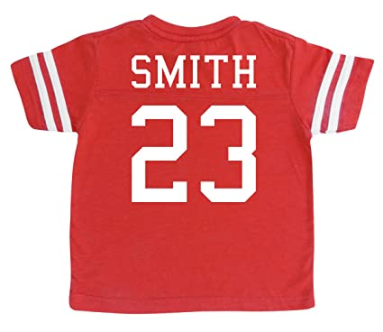 2db6955f5 Rocket Bug Custom Football Sport Jersey Toddler   Child Personalized With  Name and Number - Red