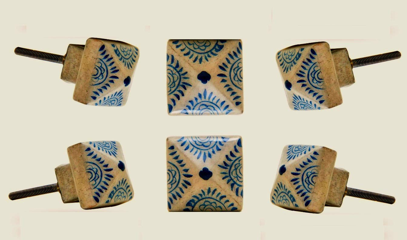 6 Tiradores de Ceramica / Porcelana (7M6R4851)