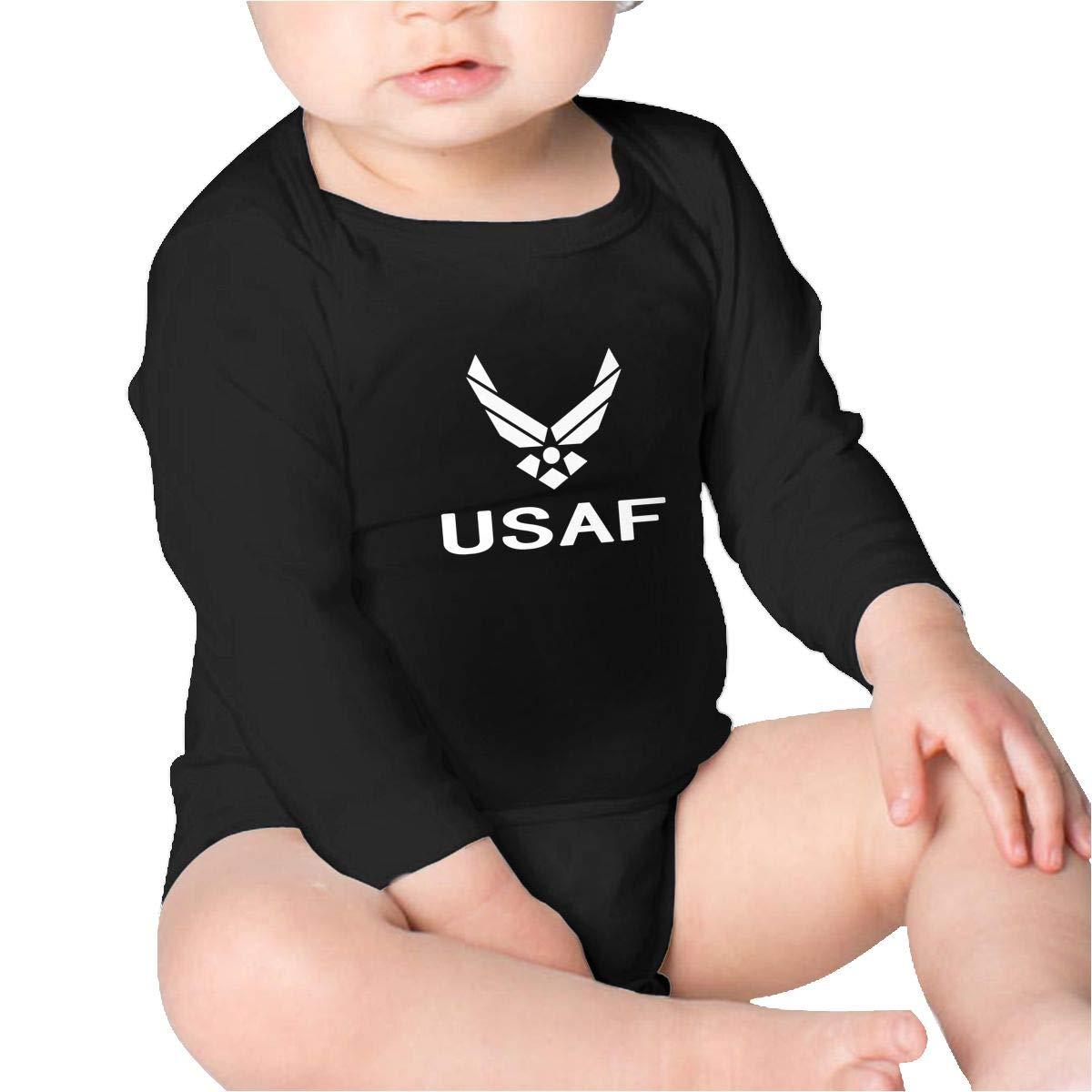 Pikaqiuleilei USAF Air Force Kids Cotton,Long Sleeve Creeping Suit