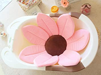 Mabpa Bot Baby Bath Mat for Tub,Flower Baby Bath for Sink,Baby Bath Tubs for Newborns,Infant,Toddler.Baby Wash Seat//Cushion//Sling Support//Pad.Portable,Foldable,Non-slip Baby Shower Gifts