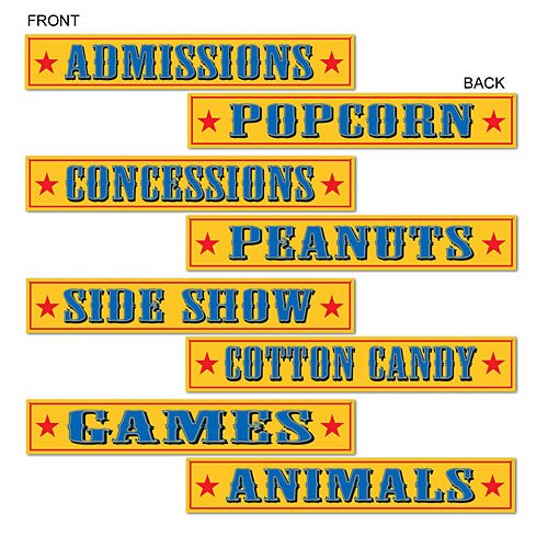 Beistle 54304 Circus Sign Cutouts, 4