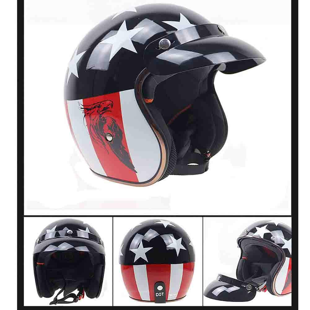Harley Half Face Motorradhelm mit Hut Zunge Motorradhelm Eingebaute Sonnenbrillen Motocross Helme Moto Safety Caps