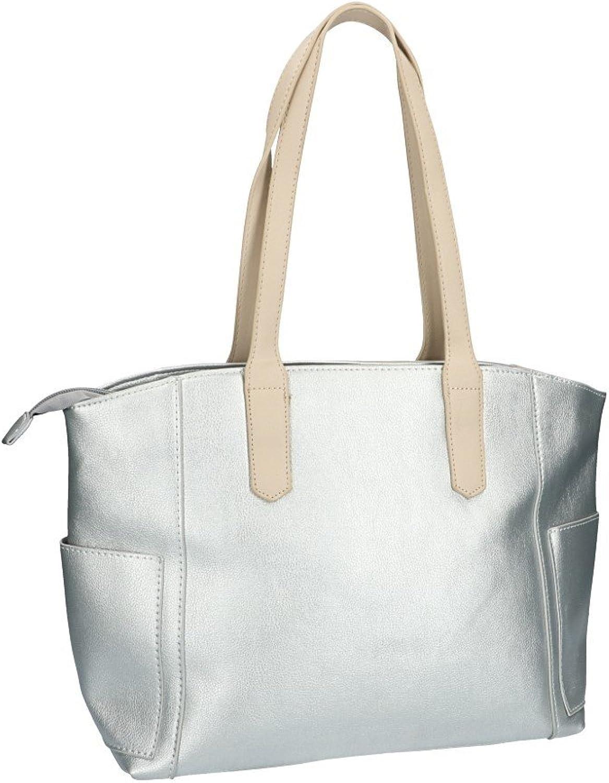Pam Shop Bolsa mujer hombro PIERRE CARDIN plata abertura zip