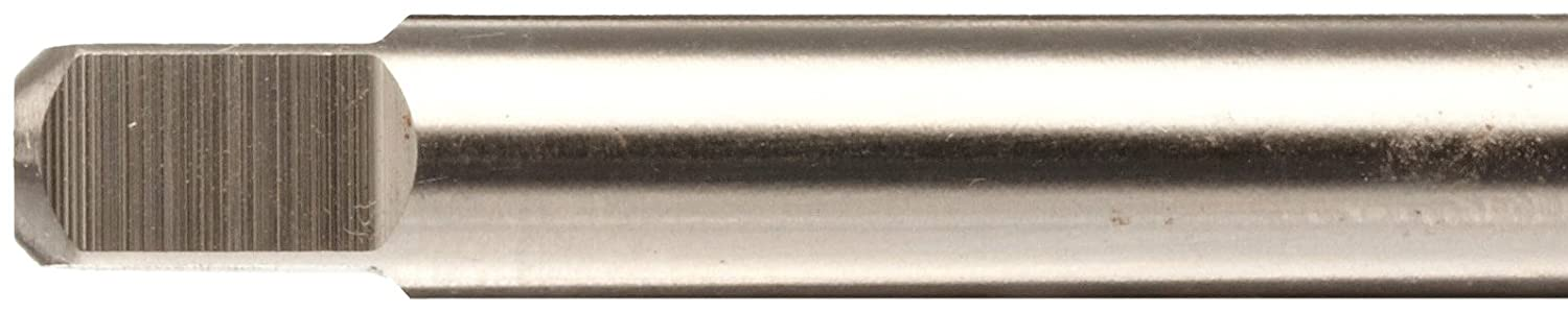 Finish H6 Tolerance High-Speed Steel Thread Forming Tap Uncoated Union Butterfield 1580 Round Shank with Square End 10-32 Thread Size UNF Bright Plug Chamfer