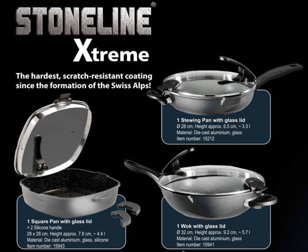 Amazon.com: Germanys Stoneline Xtreme Series Non-stick Non-Toxic Stone Coating Cookware 12.8
