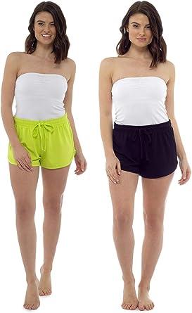 Citycomfort Pantalones Cortos Para Mujer Pantalones De Playa Para Mujer Paquete De 2 Ropa De Playa Ropa De Verano Esencial Amazon Es Ropa Y Accesorios