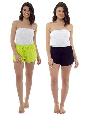 b93004999e23 CityComfort Pantalones Cortos para Mujer Pantalones de Playa para ...