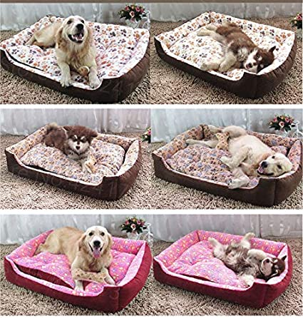 Amazon.com : FLAMINGO_STORE Dog Bed cat Bed Warm Corduroy Padded Dog Bed Waterproof Washable Pet House Mat Perros Soft Sofa Kennel Dogs Cats House for Large ...