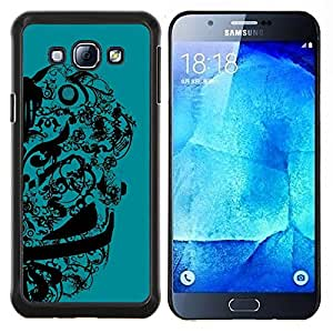 "Be-Star Único Patrón Plástico Duro Fundas Cover Cubre Hard Case Cover Para Samsung Galaxy A8 / SM-A800 ( Resumen de diseño floral"" )"