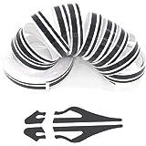 ZATOOTO Black Pinstripe Tape for Car - DIY Vinyl Pin Striping Decals Auto Waterproof Pin Stripe Tape Emblems Trim Universal f