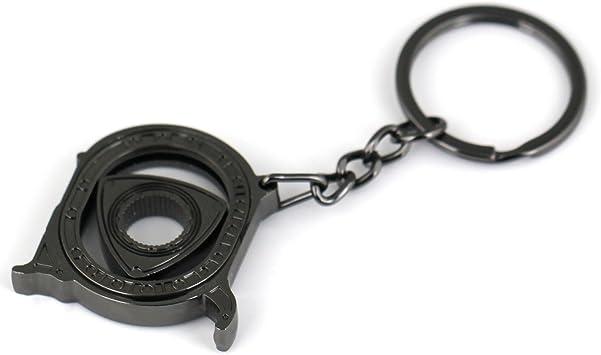 maycom New HOT Spinning Rotor Keychain Creative Car Fans Favorite Auto Parts Model Gunmetal Engine Rotary Keyring Key Ring Chain Keychain Keyfob 86122-2
