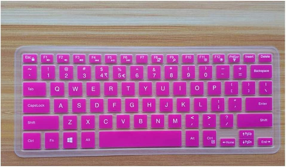 Silicone Laptop Keyboard Cover Skin Protector Compatible for Dell XPS 15 9550 15 9560 XPS 15 9560 9550 15.6 Inch,Rose