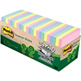 Post-it Greener Notes, 3 in x 3 in, 24 Pads, 75 Sheets/Pad (654R-24CP-AP), Helsinki Collection Cabinet Pack