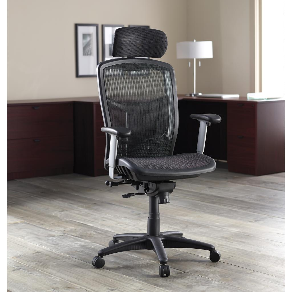 High Backed Kitchen Chairs: Amazon.com: Lorell Executive High-Back Chair, Mesh Fabric