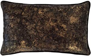 pillowerus Faux Leather Black Gold Effect 14