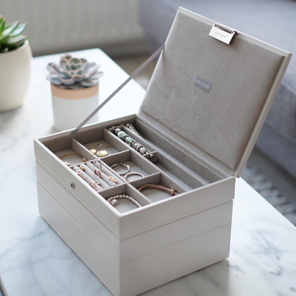 Stackers Classic Size Caja De La Joyer A Organizador Con 4  ~ Organizador De Joyas Para Cajones