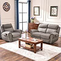 Harper & Bright Designs Sectional Sofa Set Including Chair, Loveseat and 3-Seat Sofa Recliner (Chair & Loveseat)