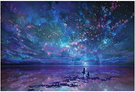 JIADUOBAO Cielo Estrellado Océano Puzzle 5000 Piezas de Madera Rompecabezas for Adultos: Amazon.es: Juguetes y juegos