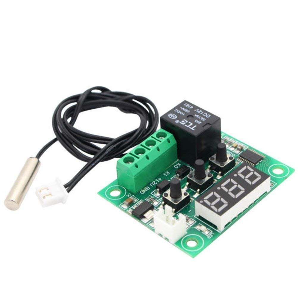 CTYRZCH 5 Pack 12V DC Digital Cooling/Heating Thermostat Temp Control -50-110 °c Temperature Controller 10A Relay With Waterproof Sensor Probe