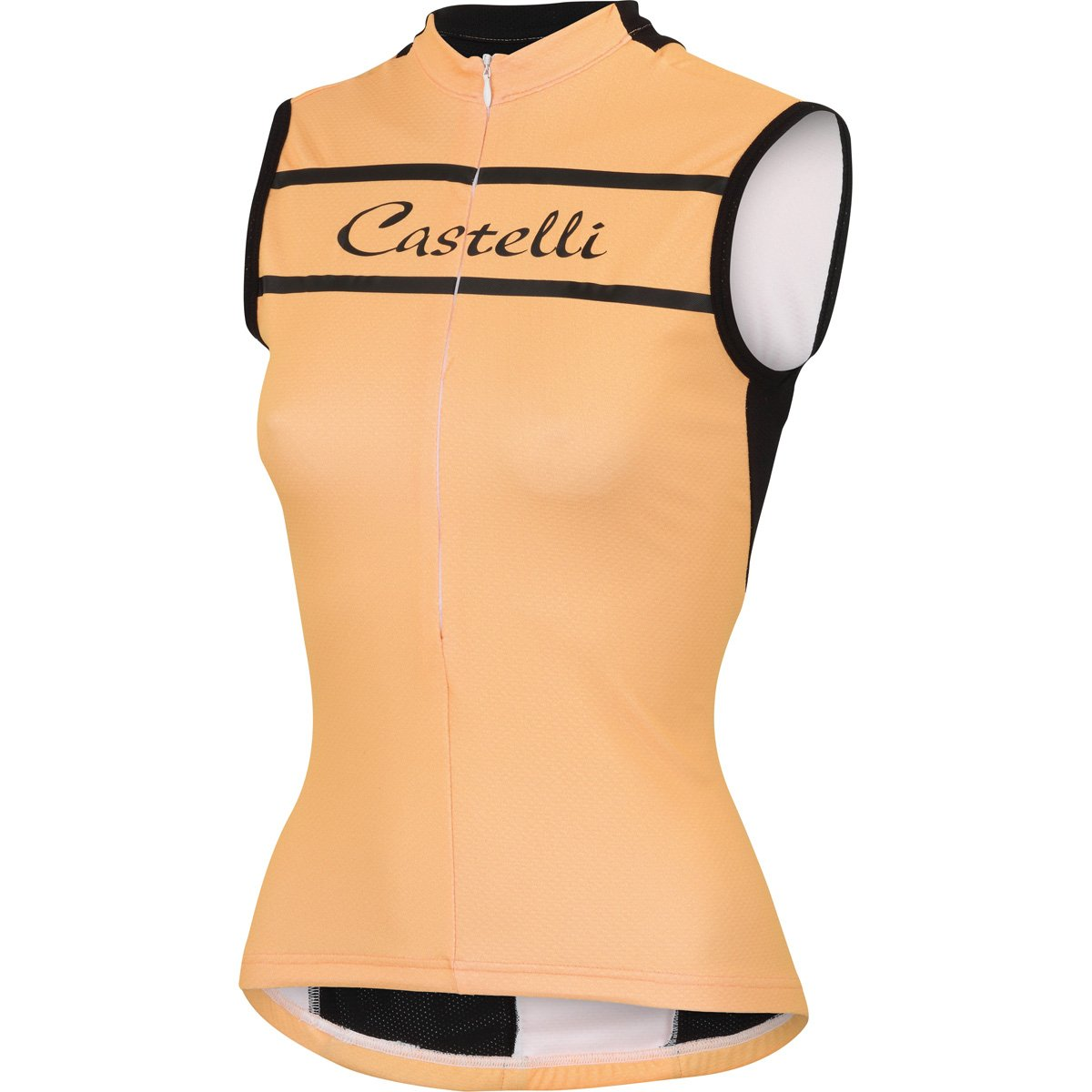 Castelli 2016 Women's Promessa Sleeveless Cycling Jersey - A15053 (Light Orange - S)