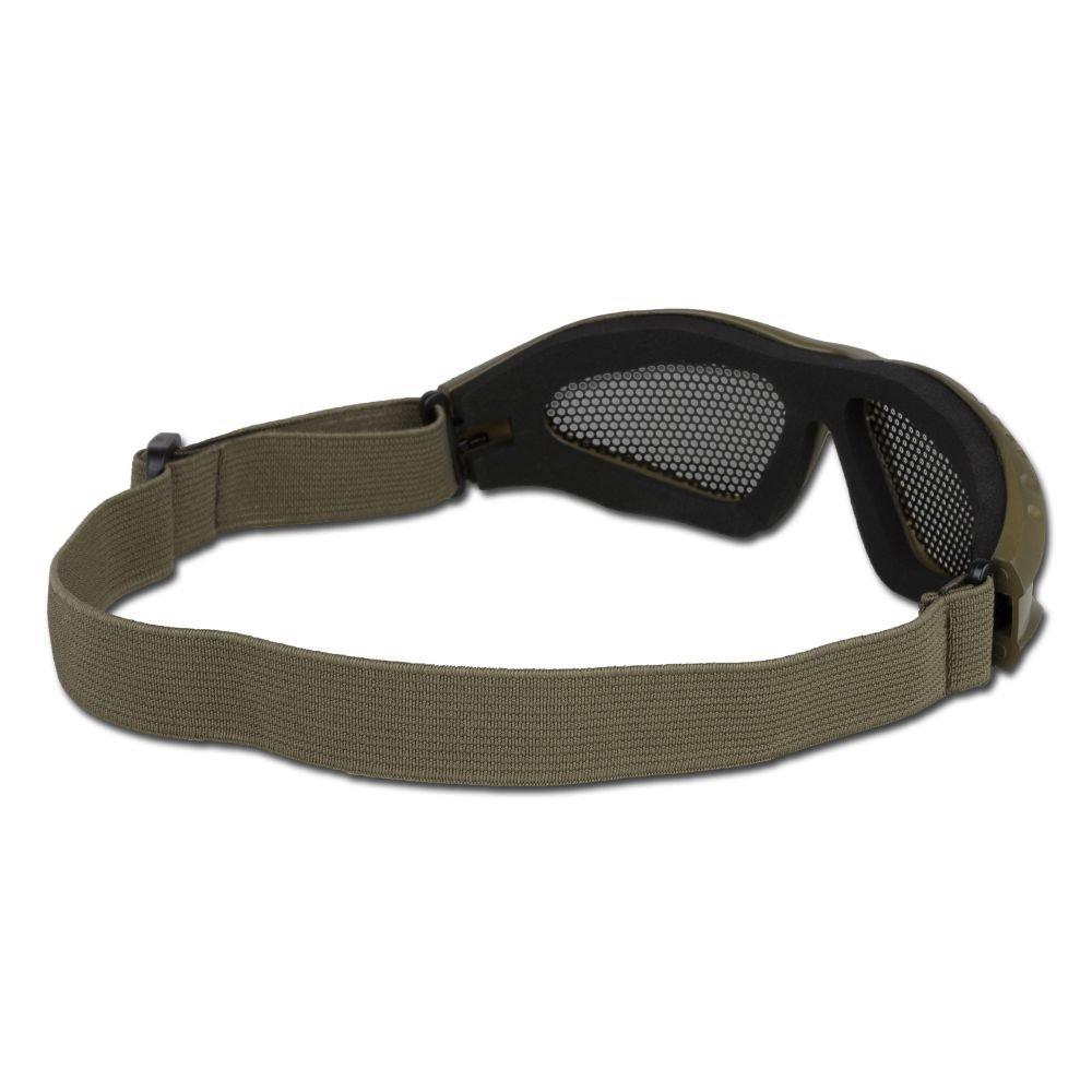 Metall-Gittereinsatz oliv Deko Airsoftbrille