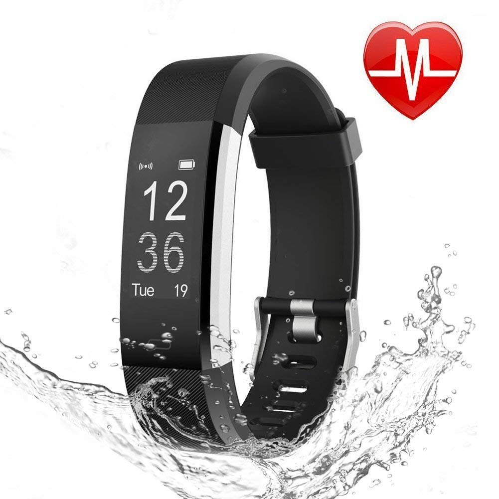 LETSCOM Fitness Tracker HR, Activity Tracker Watch with Heart Rate Monitor, Waterproof Smart Fitness Band with Step Counter, Calorie Counter, Pedometer Watch for Kids Women and Men by LETSCOM (Image #1)