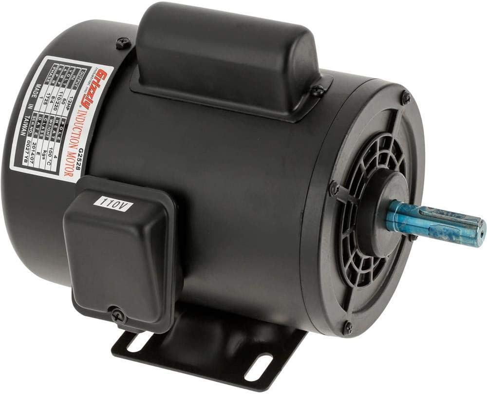 Grizzly Industrial G2528 - Motor 1/2 HP Single-Phase 1725 RPM TEFC 110V/220V