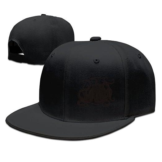 Octopus Silhouette Adjustable Hat Baseball Cap