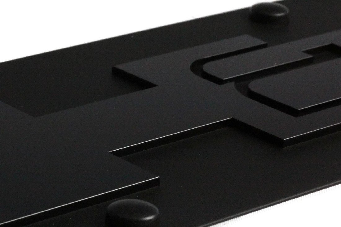 Eurosport Daytona Stainless Steel Black Hummer H2 License Plate Frame 3D Novelty Tag