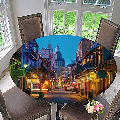 PINAFORE HOME Premium Tablecloth Pubs and Bars with neon Lights in The French Quarter New Orleans USA Everyday Use 40