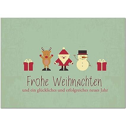 Moderne Weihnachtskarten.15 X Moderne Weihnachtskarten Mit Umschlag Motiv Moderner Vintage Look Mit Weihnachtlichen Symbolen Turkis Grun Grusskarten Im Postkarten