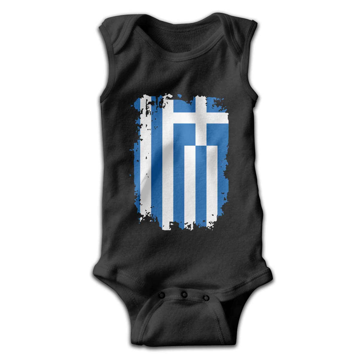 Greece Flag1 Printed Newborn Infant Baby Girls Sleeveless Romper Jumpsuit Bodysuit
