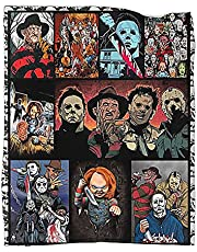 Horror Movie Characters Blanket Thicken Warm Flannel Fleece Square Comfort Blanket Camping Outdoor Blankets for Adults Kids
