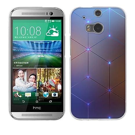 FUBAODA HTC One M8 / M8S Funda [Diamante elettromagnetica] Prima Híbrido Anti-rasguños Marco Bumper Carcasa Doble Capa TPU de Funda para HTC One M8 / ...