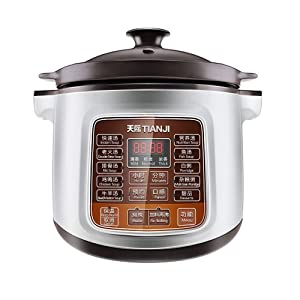 Tianji Electric Stew Pot DGD40-40LD Slow Cooker, Ceramic Stew Inner Pot for Gas, 4 L,600W