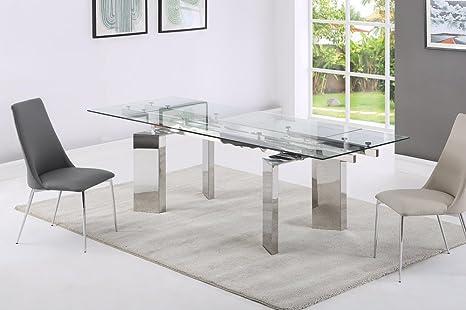 Tavoli Da Pranzo Design : Giovanni marchesi tavolo da pranzo design in vetro estensibile