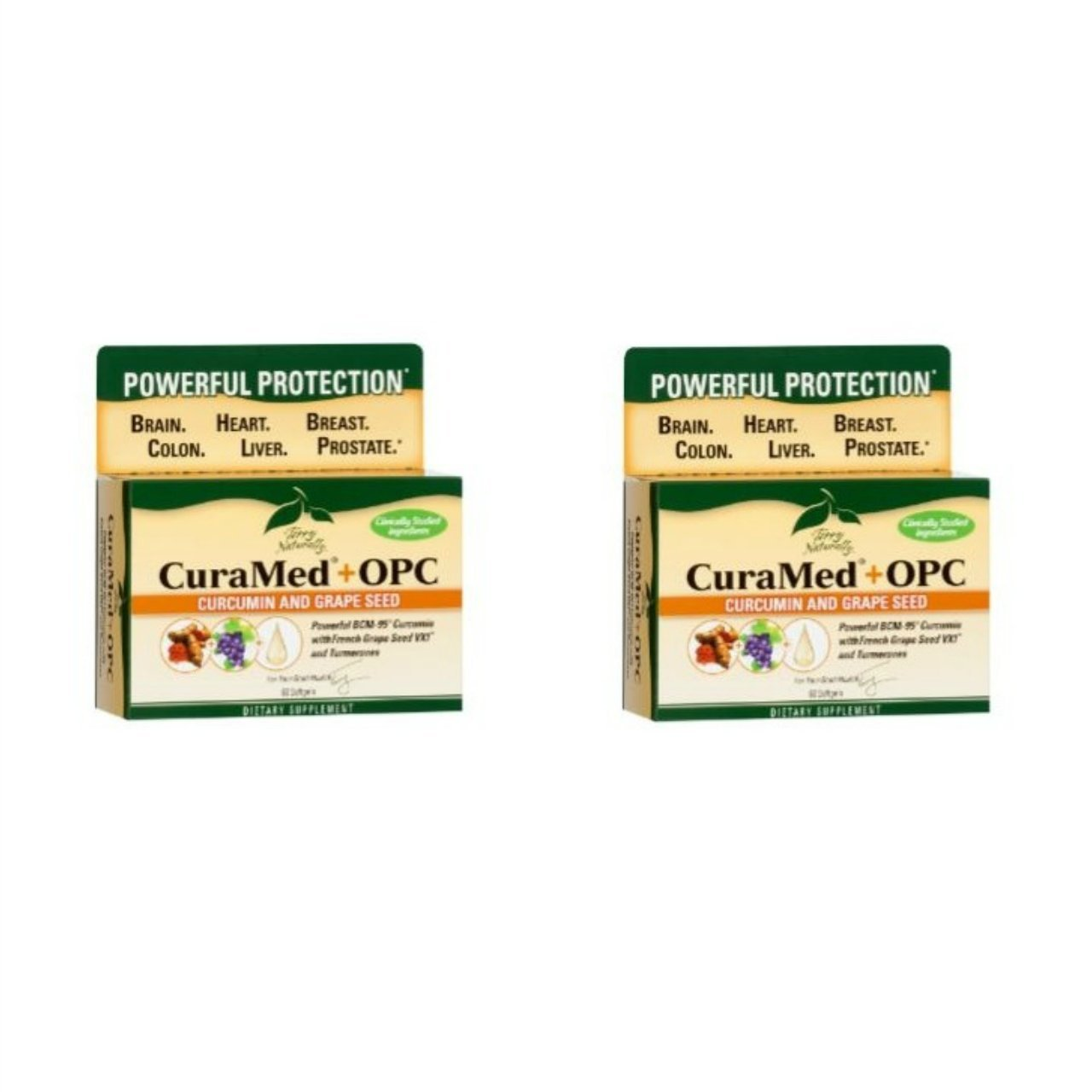 Terry Naturally/Europharma Curamed + OPC( PreviouslyBCM95 + OPC )-60 Softgels -2 Pack