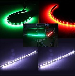 Boat LED Navigation Lights Kit (STERN U0026 BOW) Red U0026 Green U0026 White Navigation