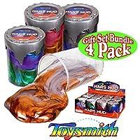 Toysmith Mars Mud (Slime /Putty) Juego completo de regalo para fiestas - paquete de 4