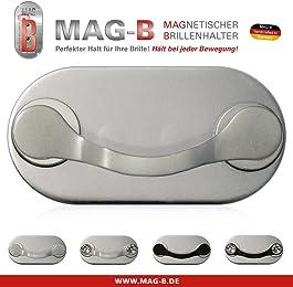 MAG-B porta occhiali magnetico (acciaio inossidabile lucido)