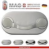 MAG-B porte lunettes magnétique (acier inoxydable poli)