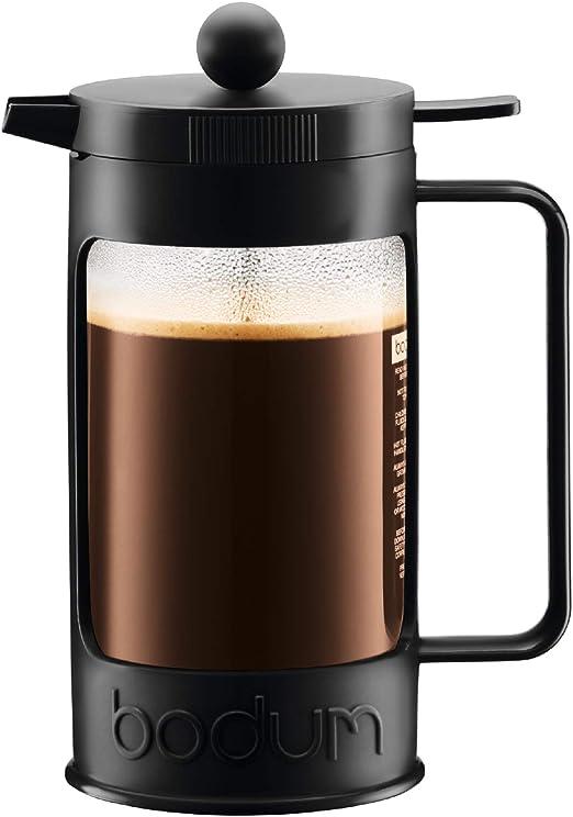 Bodum Bean Cafetera émbolo, 1 Liter, vidrio, Negro: Amazon.es: Hogar