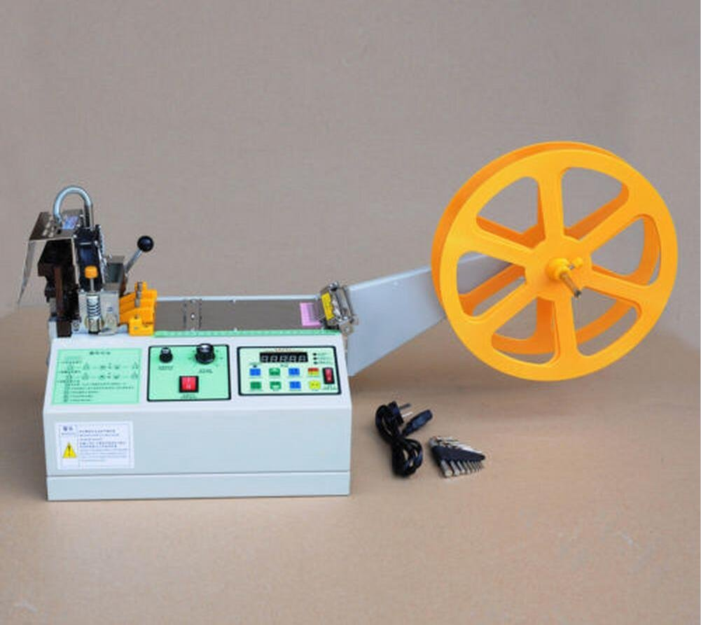 Automatic Wire Peeling Stripping Cutting Tool Computer Hot and Cold Belt Cutting Machine for Leather Plastic Braid Zipper (110V)