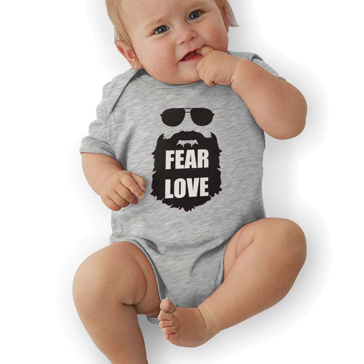 Fear Love Fashion Newborn Baby Short Sleeve Bodysuit Romper Infant Summer Clothing