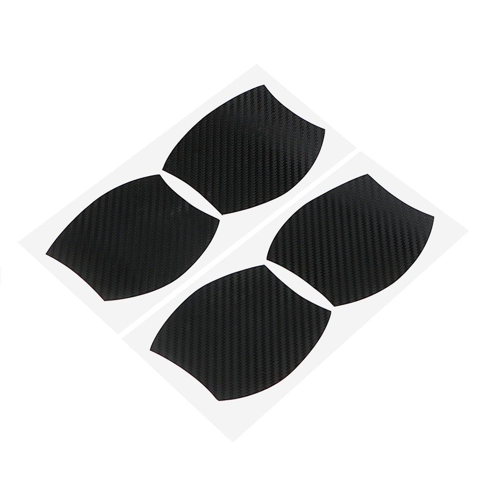 Poigné e de porte de voiture Bowl proté ger Autocollant anti rayures Fibre film vinyle autocollant Noir NOPNOG