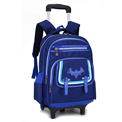 C-Xka Waterproof Wheeled Backpack Cute Cartoon Rolling Backpack Elementary  Students Wheeled Book Bag Primary 975d29470d76d