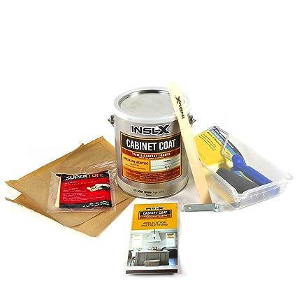 Amazon.com: INSL-X CC5501099-1K Cabinet Coat Enamel, Satin Sheen Paint 1 Gallon Kit White: Home Improvement