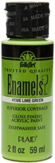 product image for FolkArt Enamel Glass & Ceramic Paint in Assorted Colors (2 oz), 4138, Lime Green